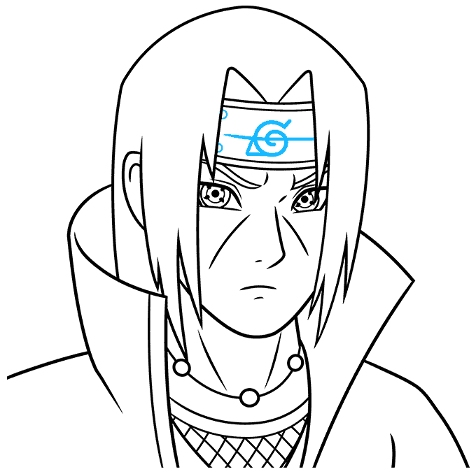 How to Draw Itachi: Step 9
