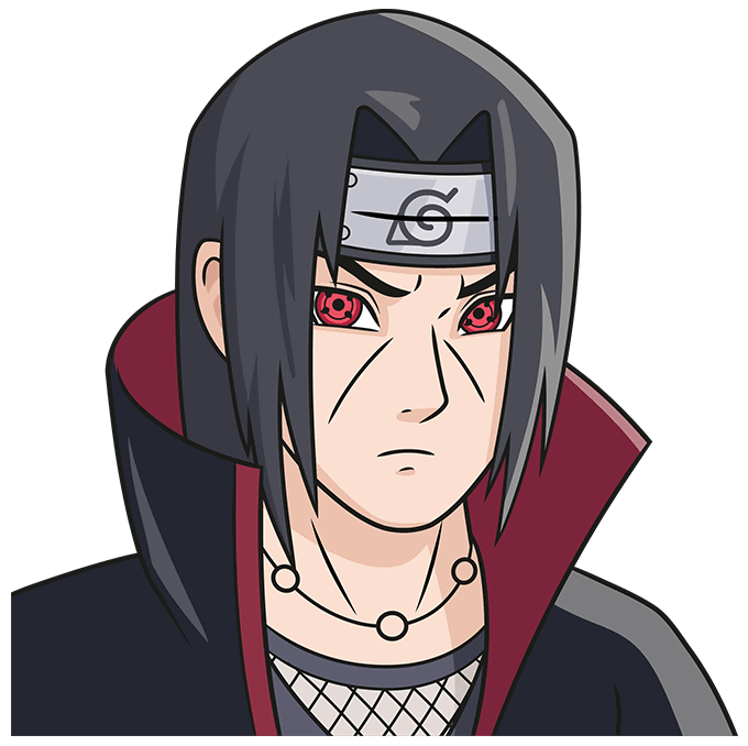 How to Draw Itachi: Step 10
