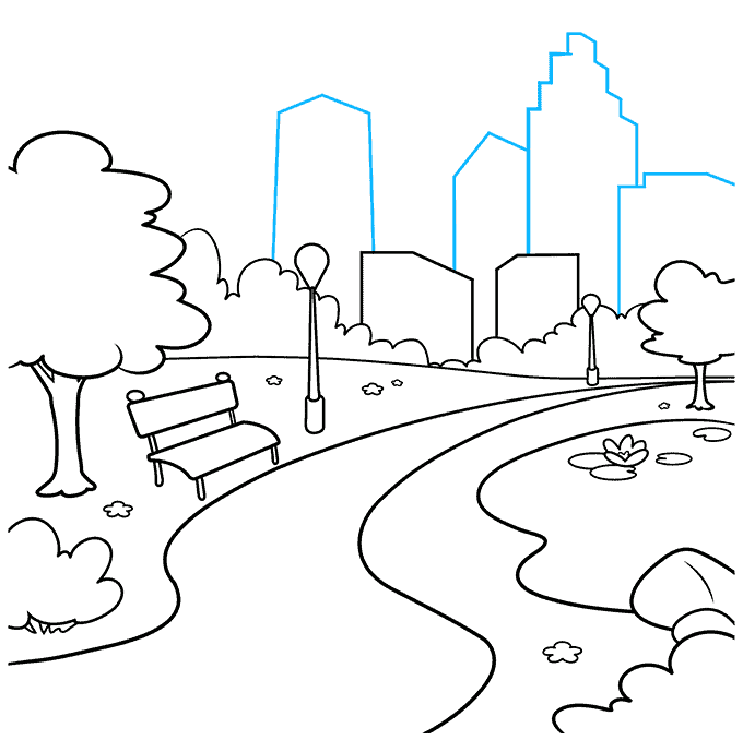 How to Draw Park: Step 8