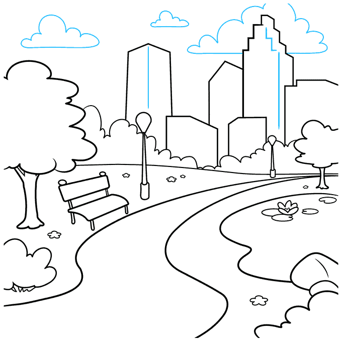 How to Draw Park: Step 9