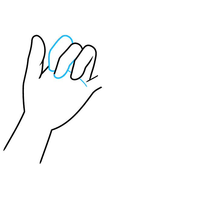How to Draw a Pinky Promise Step 04