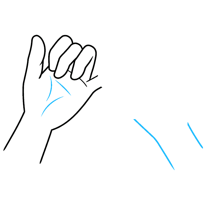 How to Draw a Pinky Promise Step 05