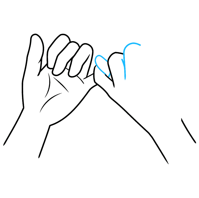 How to Draw a Pinky Promise Step 07