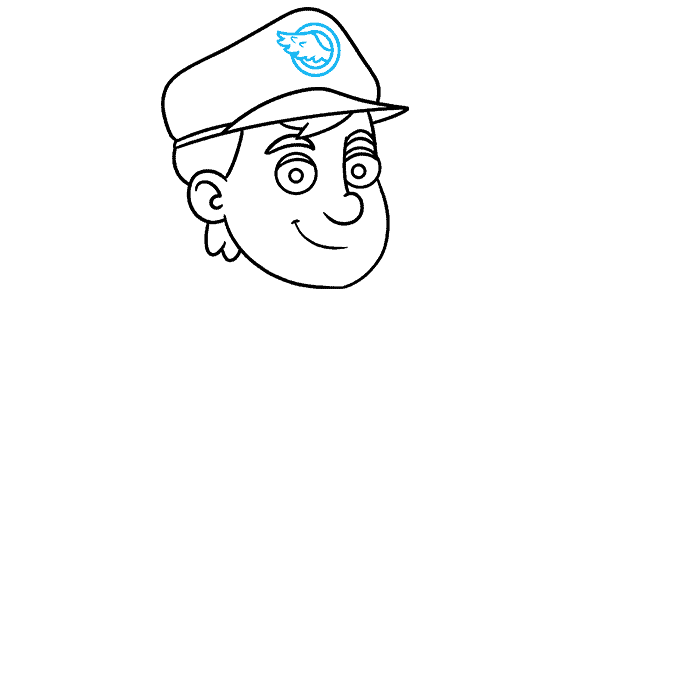 How to Draw Postman: Step 5