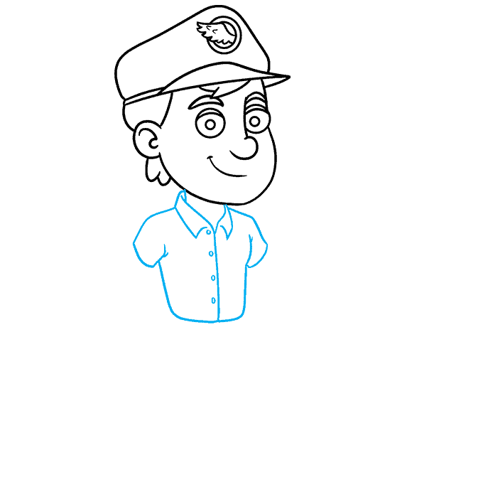 How to Draw Postman: Step 6