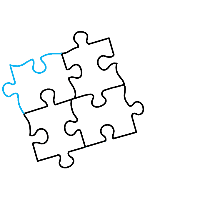 How to Draw Puzzle: Step 7