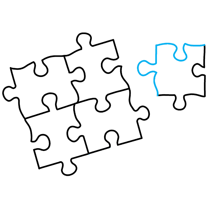 How to Draw a Puzzle Step 09