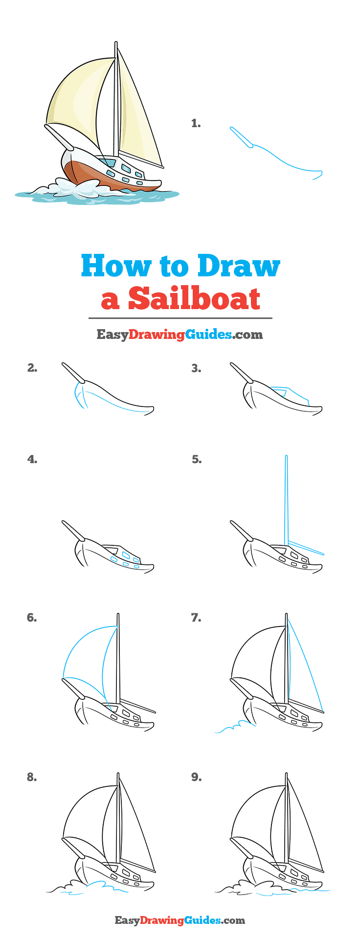 How to Draw Sailboat
