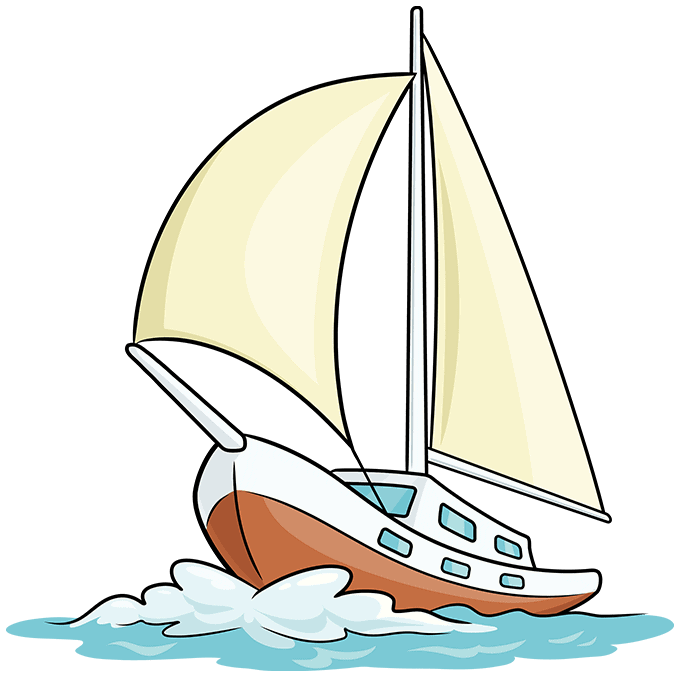 How to Draw Sailboat: Step 10