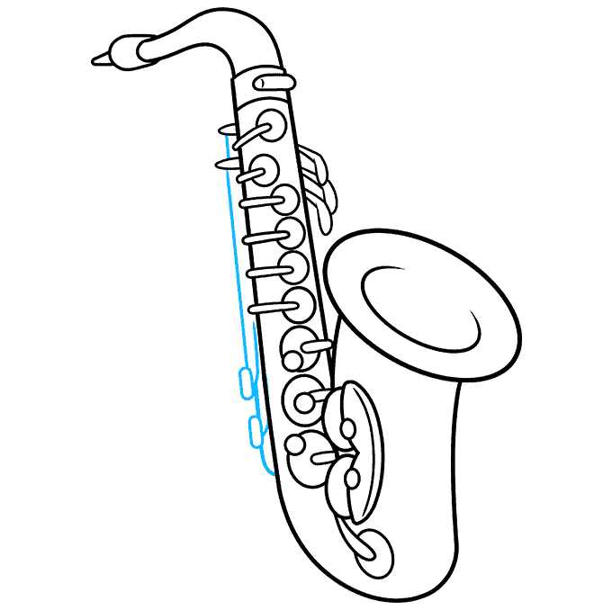 How to Draw Saxophone: Step 9
