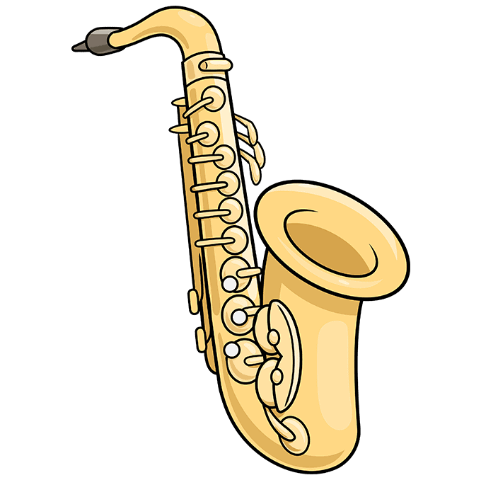 How to Draw Saxophone: Step 10