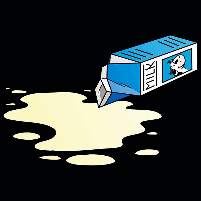 How to Draw Spilt Milk Step 10