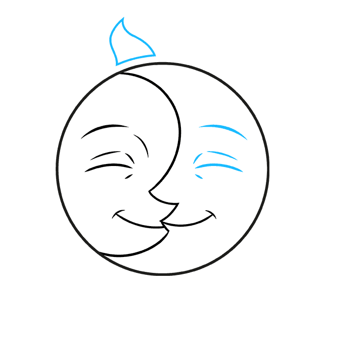 How to Draw Sun and Moon: Step 4