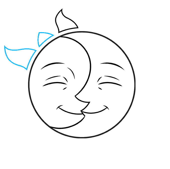how to Draw a Sun and Moon Step 05