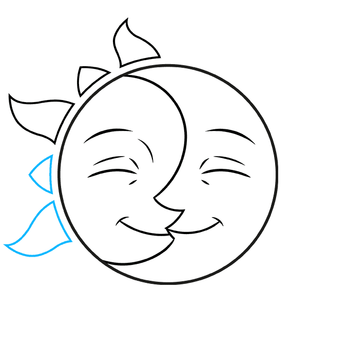 how to Draw a Sun and Moon Step 06