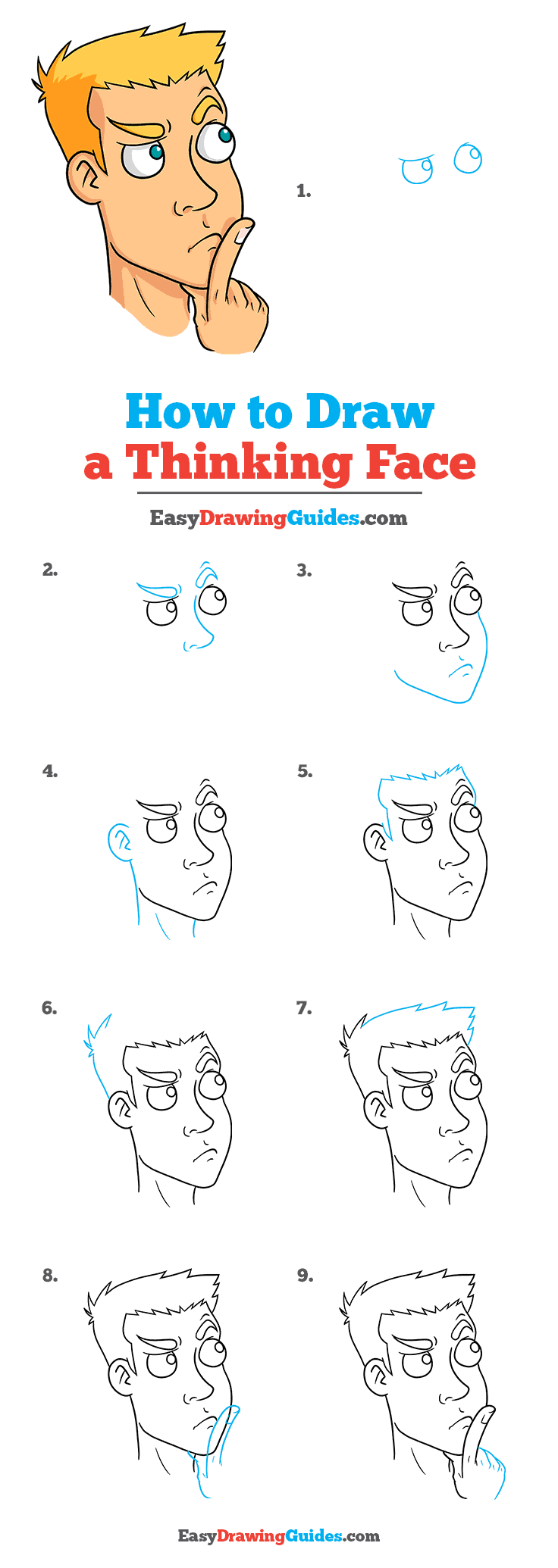 How to Draw Thinking Face