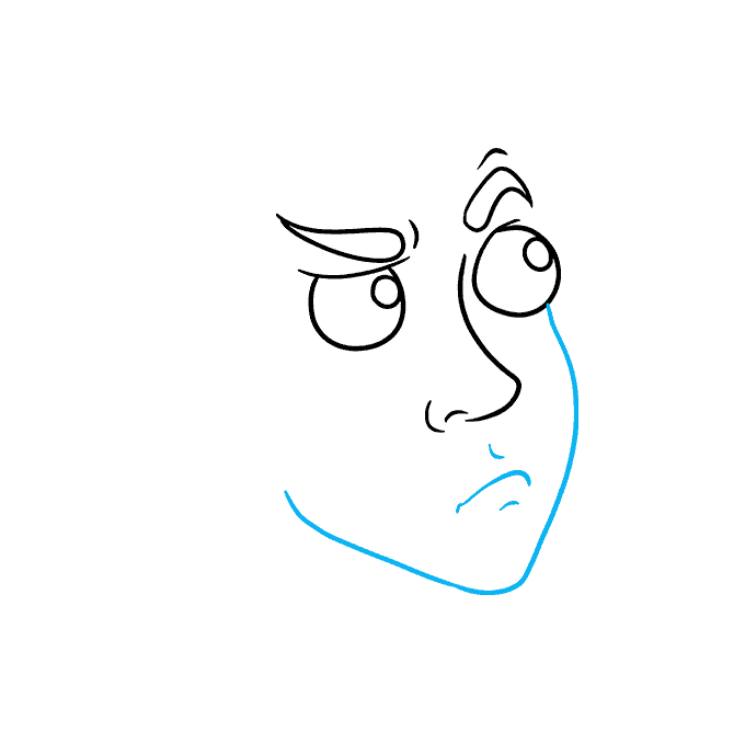 How to Draw Thinking Face: Step 3