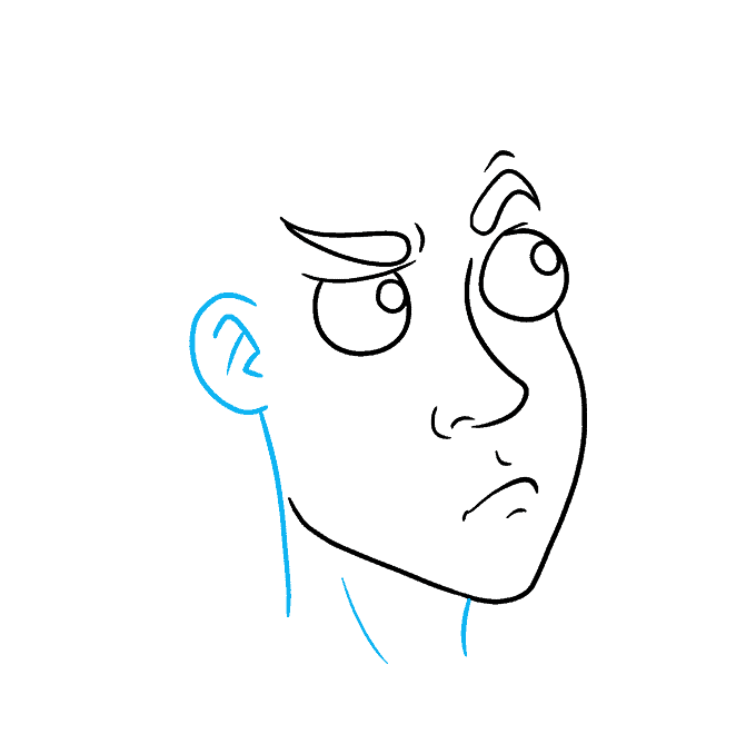 How to Draw Thinking Face: Step 4