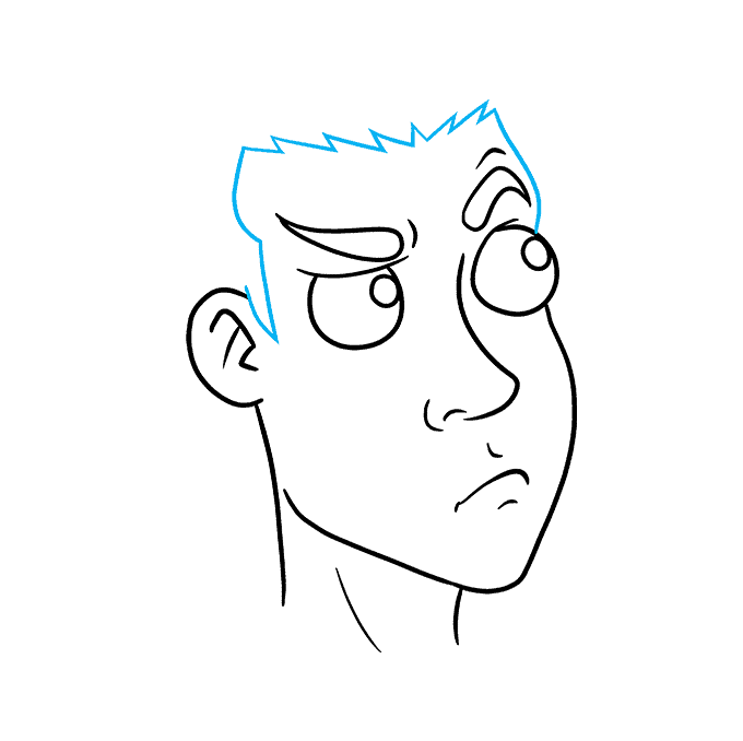 How to Draw Thinking Face: Step 5