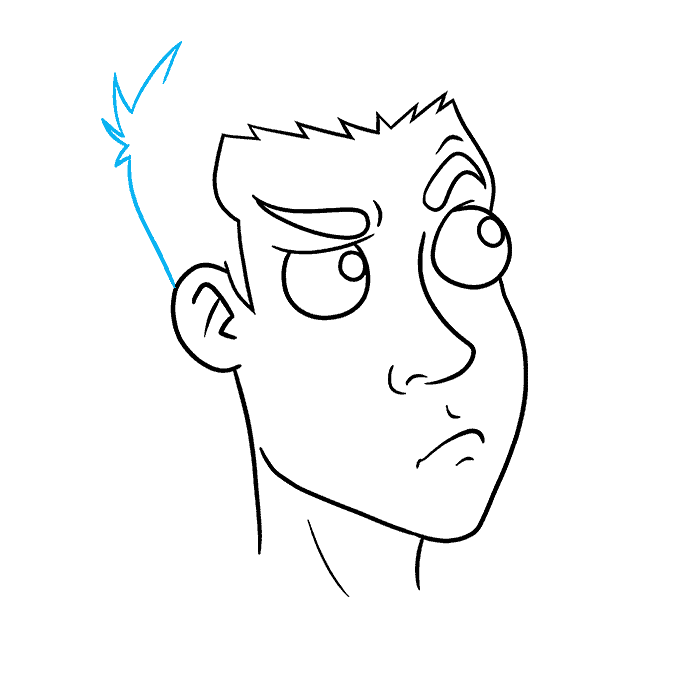 How to Draw Thinking Face: Step 6