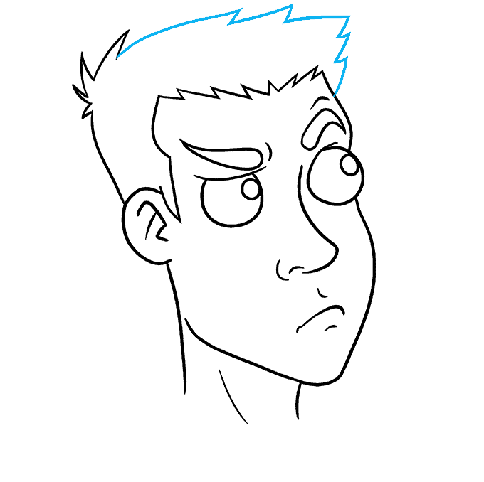 How to Draw Thinking Face: Step 7
