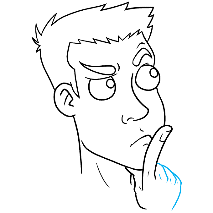 How to Draw Thinking Face: Step 9