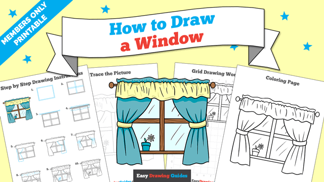download a printable PDF of Window drawing tutorial