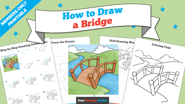 download a printable PDF of Bridge drawing tutorial