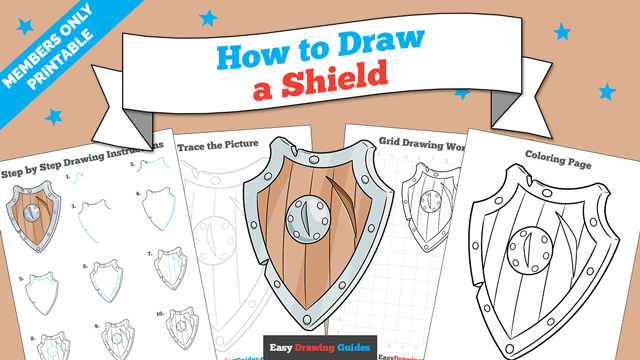 Printables thumbnail: How to Draw a Shield