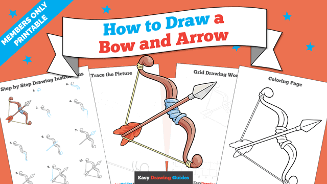 Printables thumbnail: How to Draw a Bow and Arrow