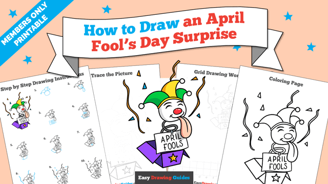 download a printable PDF of April Fools Day Surprise drawing tutorial