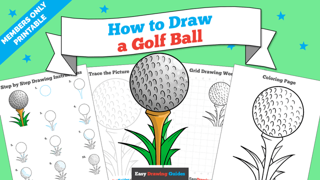 download a printable PDF of Golf Ball drawing tutorial