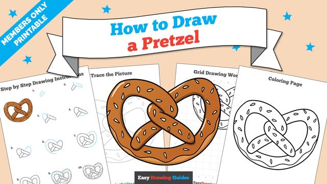 Printables thumbnail: How to Draw a Pretzel