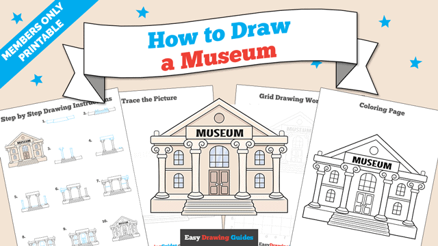 Printables thumbnail: How to Draw a Museum