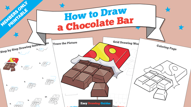 Printables thumbnail: How to Draw a Chocolate Bar