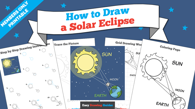 Printables thumbnail: How to Draw a Solar Eclipse