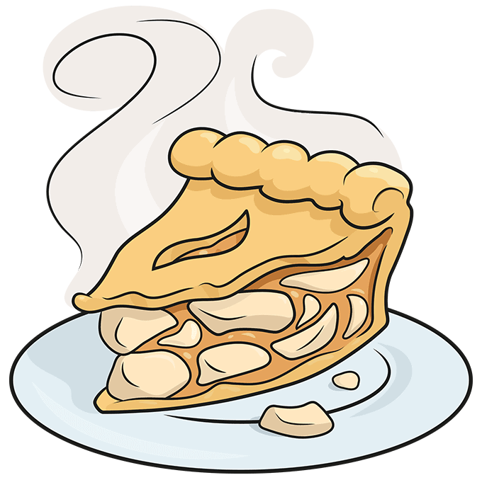 How to Draw an Apple Pie Step 10