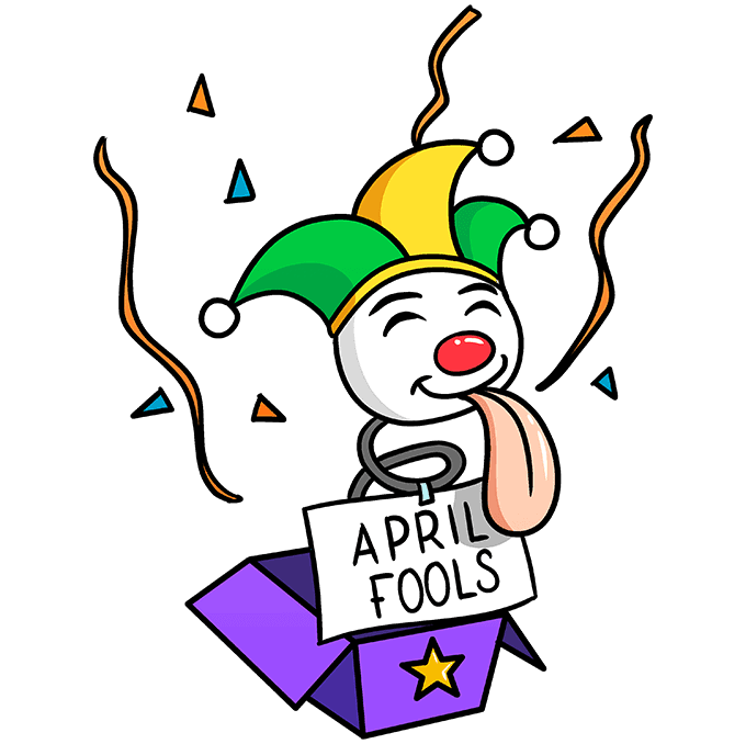 How to Draw April Fools Day Surprise: Step 10
