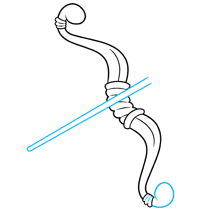 How to Draw a Bow and Arrow Step 06