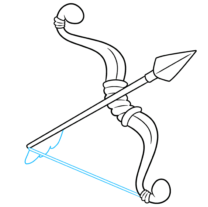 How to Draw a Bow and Arrow Step 08