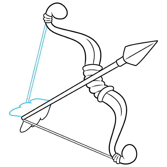 How to Draw a Bow and Arrow Step 09