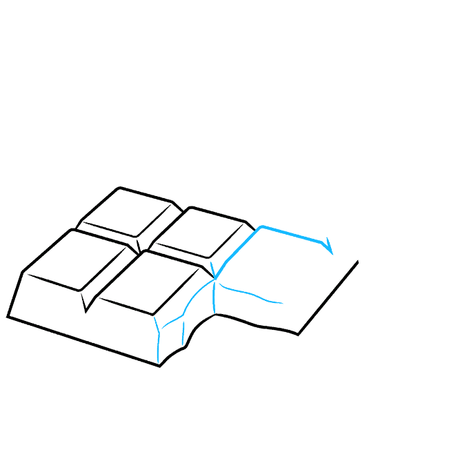 How to Draw a Chocolate Bar Step 04