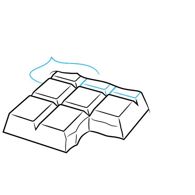 How to Draw a Chocolate Bar Step 06