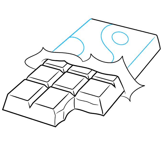 How to Draw a Chocolate Bar Step 08