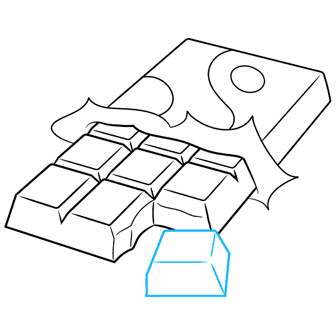 How to Draw a Chocolate Bar Step 09