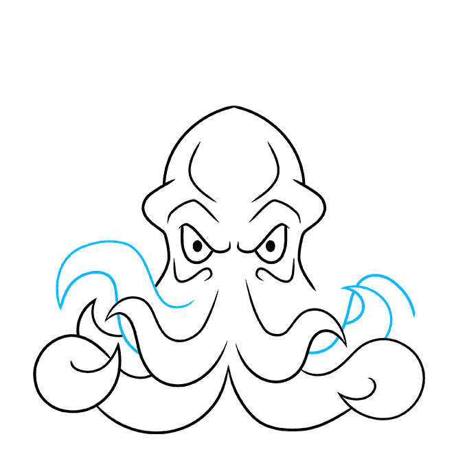 How to Draw Cthulhu Step 06