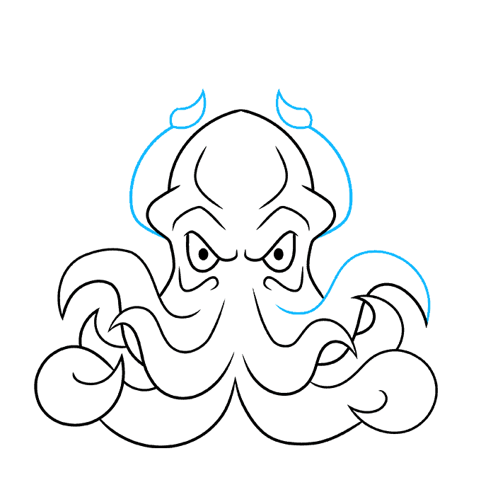 How to Draw Cthulhu Step 07