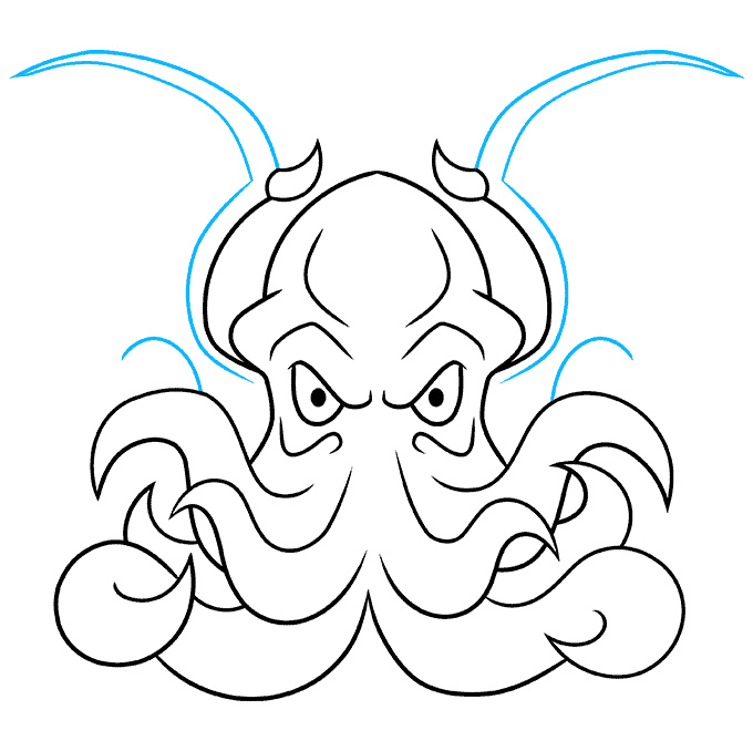 How to Draw Cthulhu Step 08