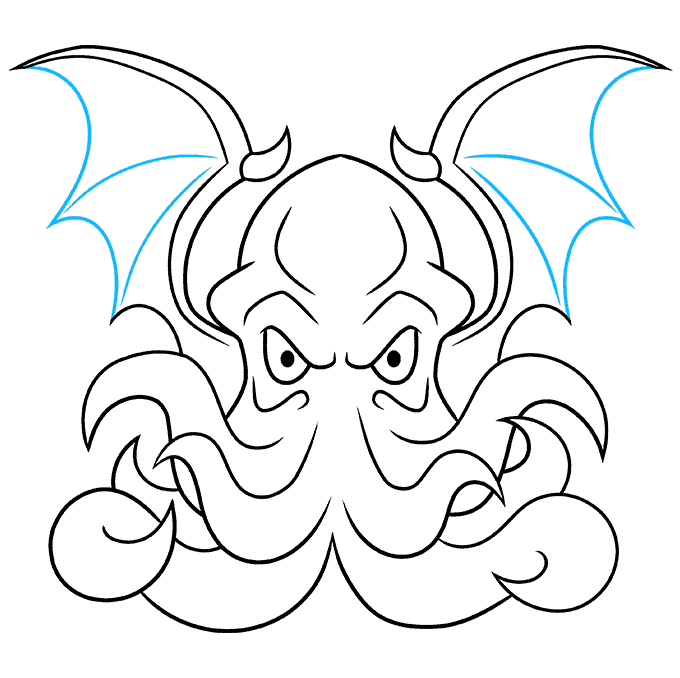 How to Draw Cthulhu Step 09
