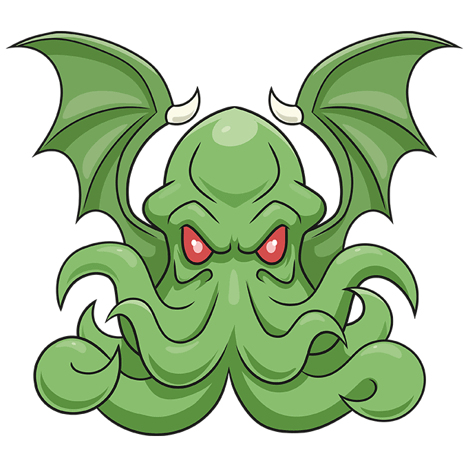 How to Draw Cthulhu Step 10
